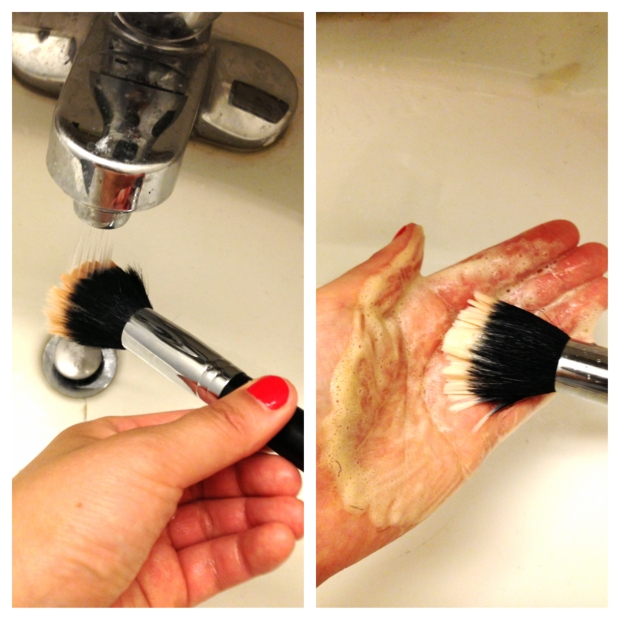 How to wash brushes 2